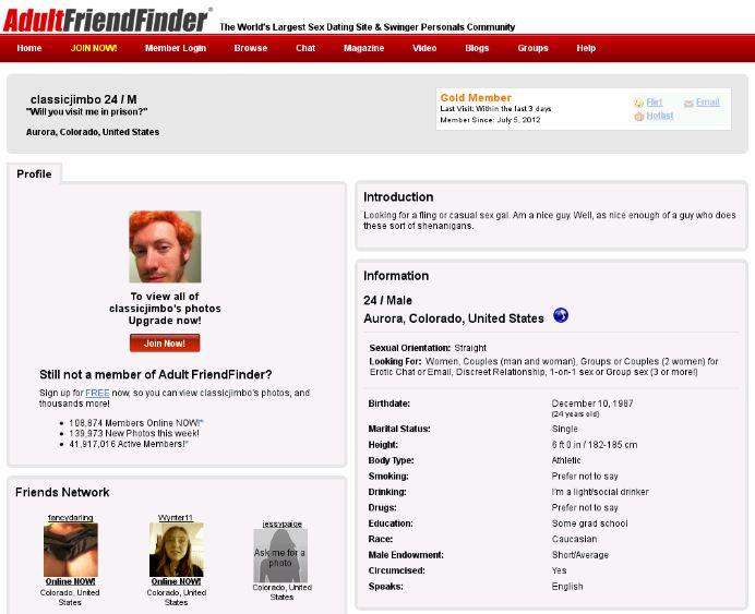 Adult Friend Finder Online