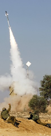 Israel Iron Dome Protects Tel Aviv from Hamas Rockets