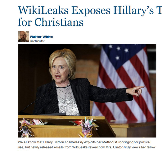 clinton hates christians
