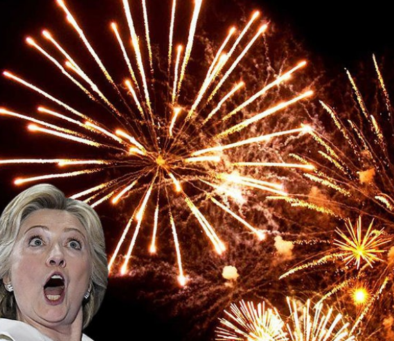 hillary cancels fireworks