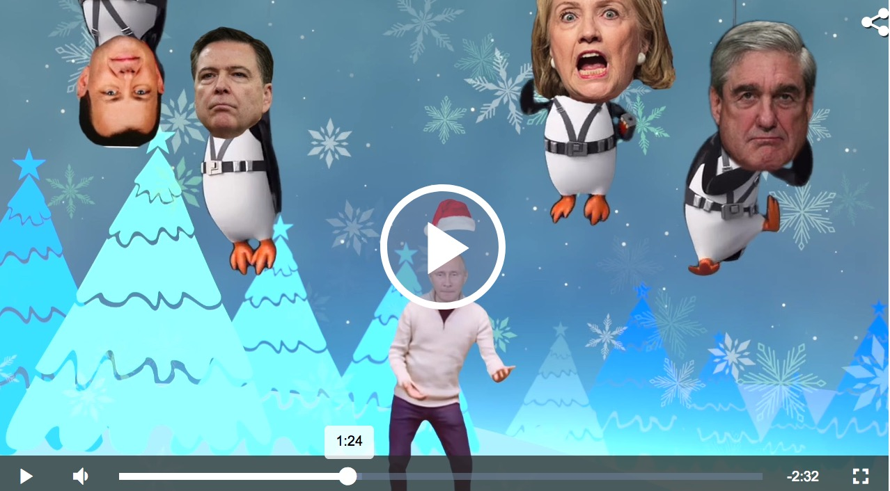 dana kamide nails it again in this trump Christmas parody